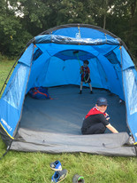 Scouts set up camp 2019