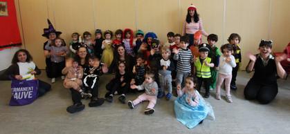 Yavneh Group fancy dress parade Purim 20