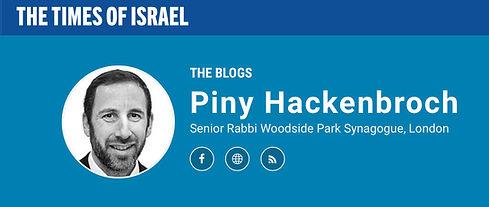10 Rabbi Hackenbroch Times of israel log
