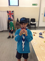 Beavers making rockets, making healthy eating posters and fruit bags