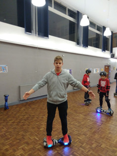 Youth Hover Boarding and Chanukah Party