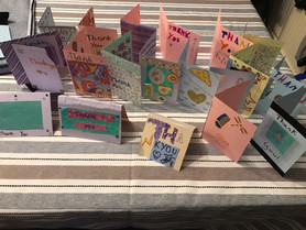 Brownies Making Thank You Cards