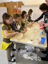 Brownies Making Hamentashen