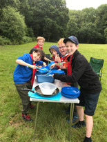 Scouts washing up at camp 2019