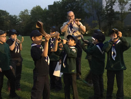 Cubs Blowing the Shofar 2017
