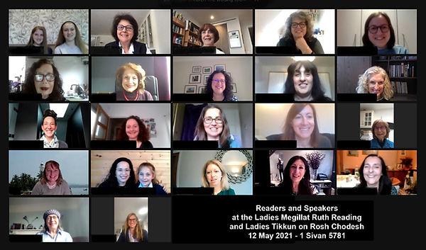 02 Readers and Speakers at the Ladies Megillat Ruth Reading and Ladies Tikkun on Rosh Chod