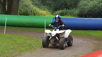 Scouts enjoy quad biking at camp 2019