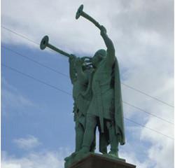 Two Vikings Statue