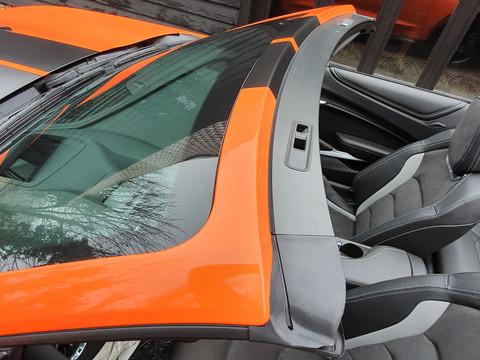 Tailored wraps Ltd,Full Gloss orange wrap inc Satin black stripes