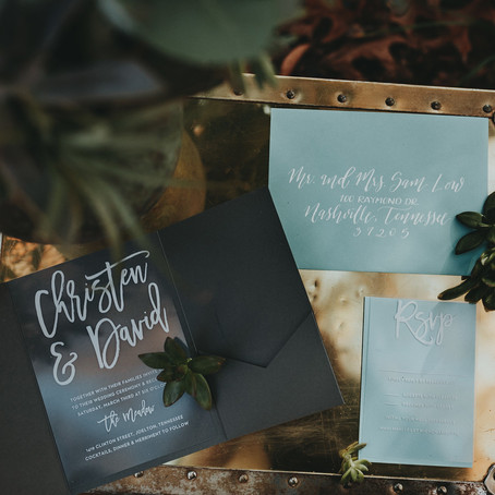 Creating A Stress-Free Wedding From Start to Finish: Custom Guest Book and Invitations