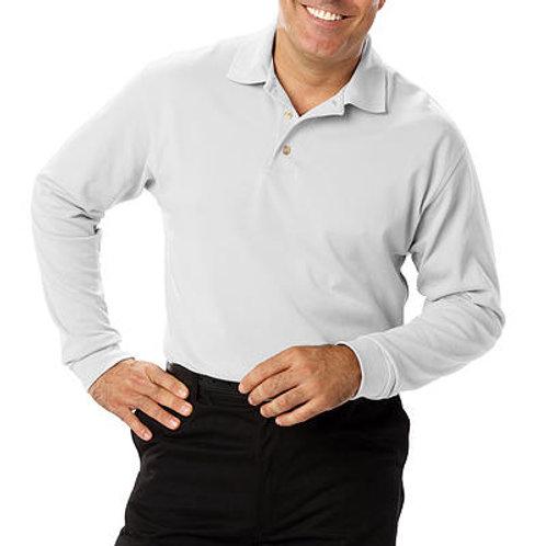 Official's Men's Long Sleeve Pique Polo
