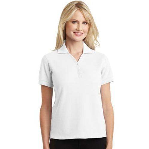 Official's Ladies Pima V-Neck Polo