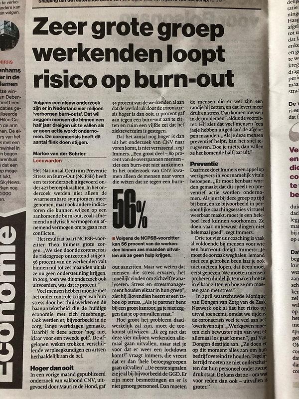 Risico op Burnout