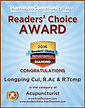 Best acupuncturist winner 2016 Hamilton Community News Readers Choice