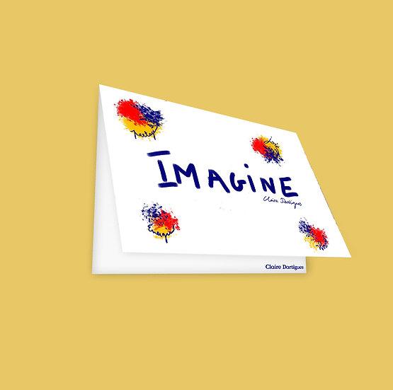 """Carte Postale """"Imagine"""""""