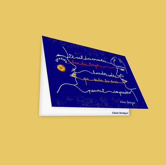 "Carte Postale ""La rencontre"""