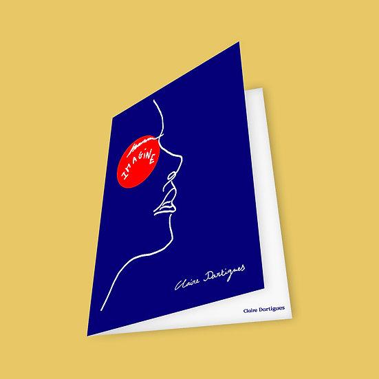"Postcard ""Sparks"" - Woman face"