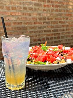 Rubarb G&T + Watermelon Salad