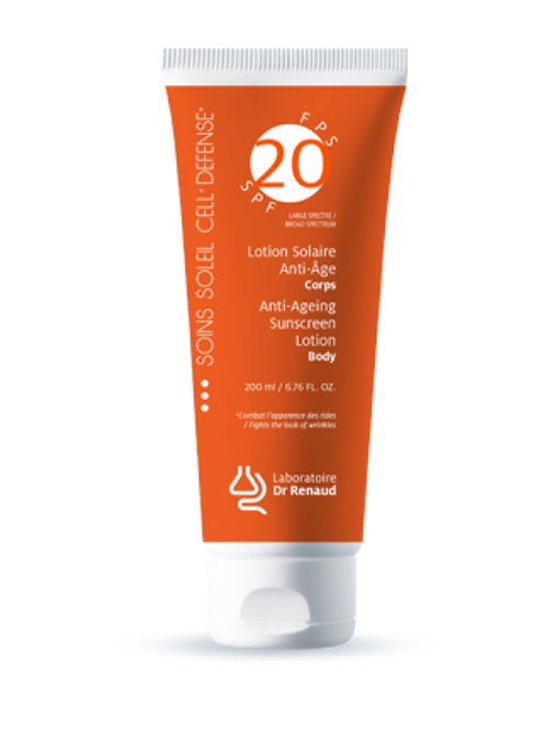 Lotion Solaire anti-âge corps Fps 20