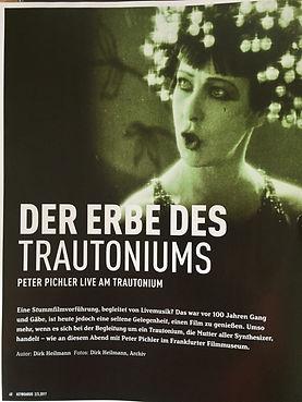 erste Seite des Artikels im Magazin Keyboard über Peter Pichler und das Trautonium