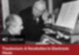Oskar Sala und Alfred Hitchcock am Trautonium Titelbild der BBC Sendung über das Trautonium