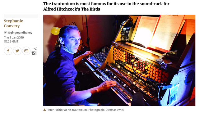 Peter Pichler am Trautonium im Guardian