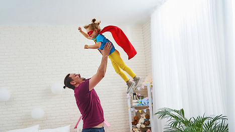 dad-daughter-play-superheroes-children-s