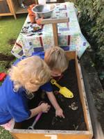 Niamh & Jack Digging For Veg