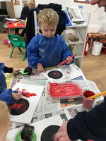 Isaac Making A Poppy