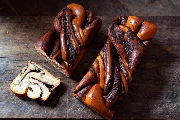 Karaway Chocolate Swirl Brioche Loaf