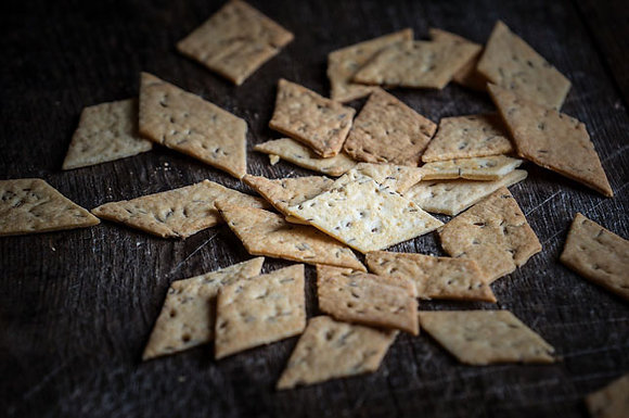 Karaway Cheese Thins with Caraway Seeds