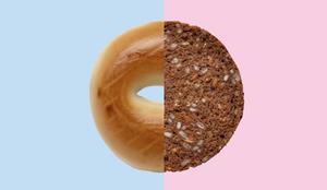 Fibre food swap - wholegrain bagel