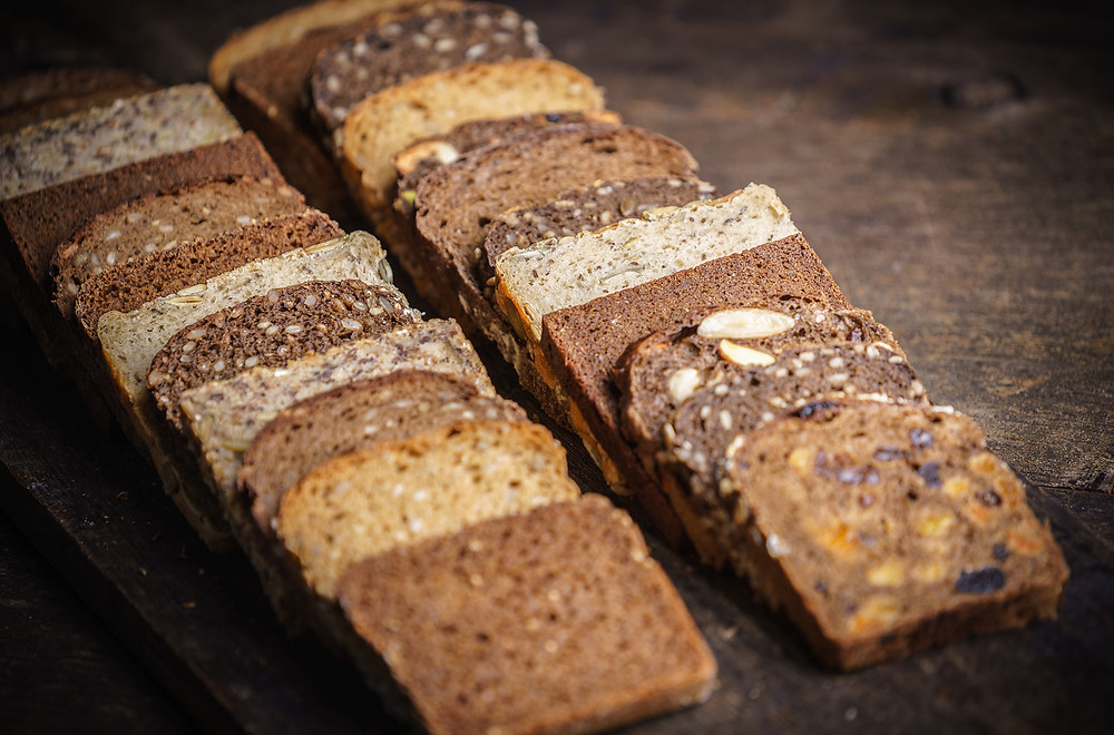 Fibre-rich wholegrain bread