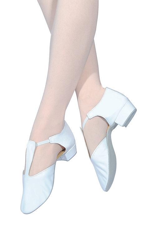 RV Greek sandals, leather t bar 3 colours black, pink, white