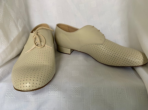 Supadance 6000 beige perforated leather ballroom shoe 11.5 wide