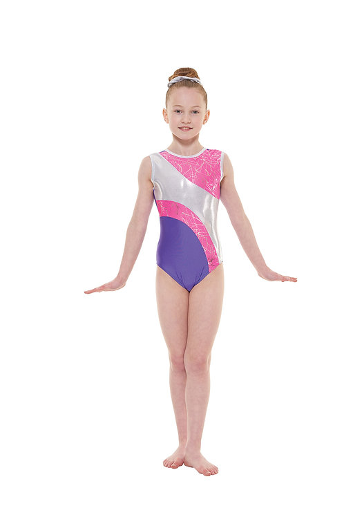 T & P 37 gymnastic leotard, nylon/lycra sleevless