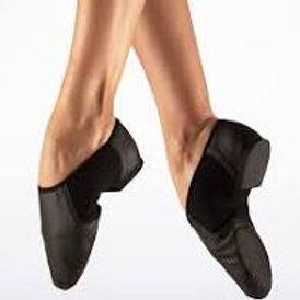 Bloch Neoflex slip on split sole  jazz shoe black or tan