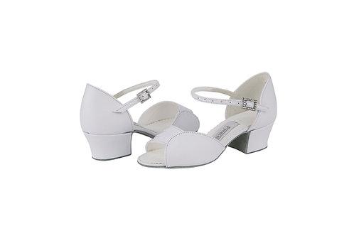 Freed Girls Libby white leather ballroom shoe