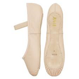 Bloch leather ballet shoes sewn in elastic pink, black, white
