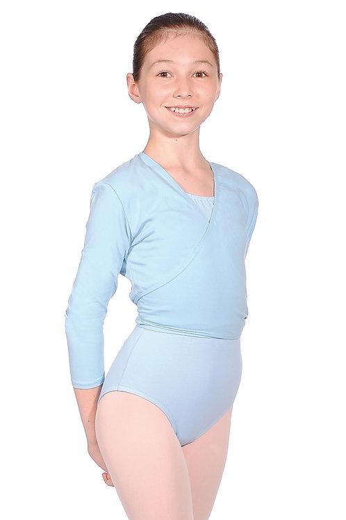 RV Nikki cotton/lycra crossover tie ballet cardigan