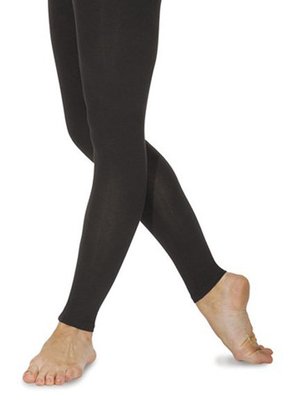 RV cotton/lycra footless tights black only