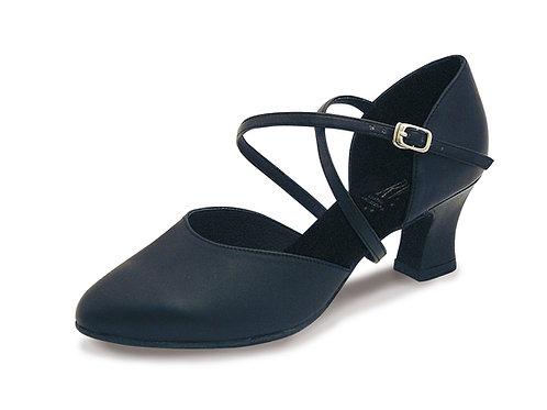 Roch Valley Ladies Anceta  black leather ballroom dance shoe.