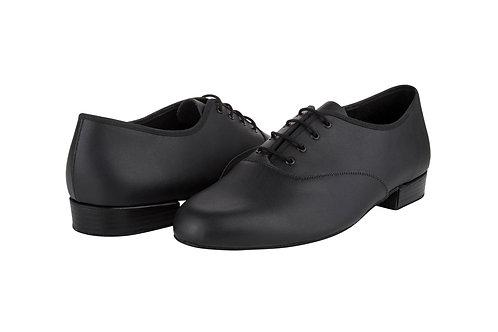 Freed of London MLB Mens black leather ballroom dance shoe made in UK