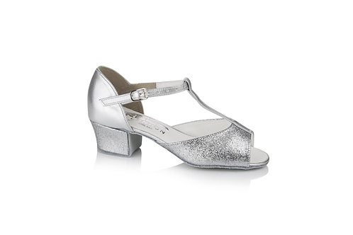 Freed of LondonMarina girls silver ballroom shoe