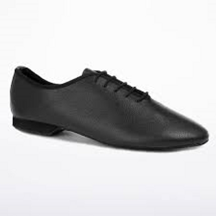 Freed black leather jazz shoe suede sole