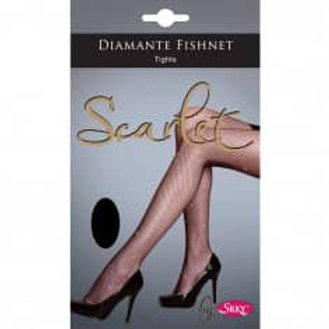 "Scarlet diamante fishnet tights medium height 5 to 5.8"" hips 36 to 42"""