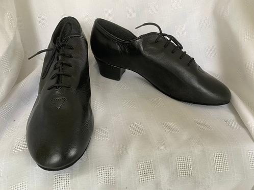 DSI black leather latin shoe  size 6.5