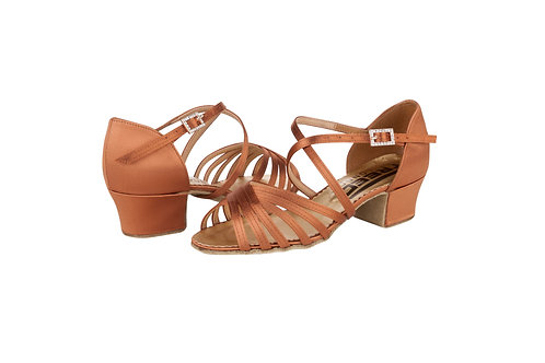 Freed Girls dark tan strappy ballroom shoe