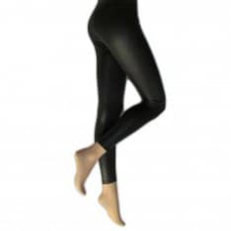 Silky Leather look leggings black