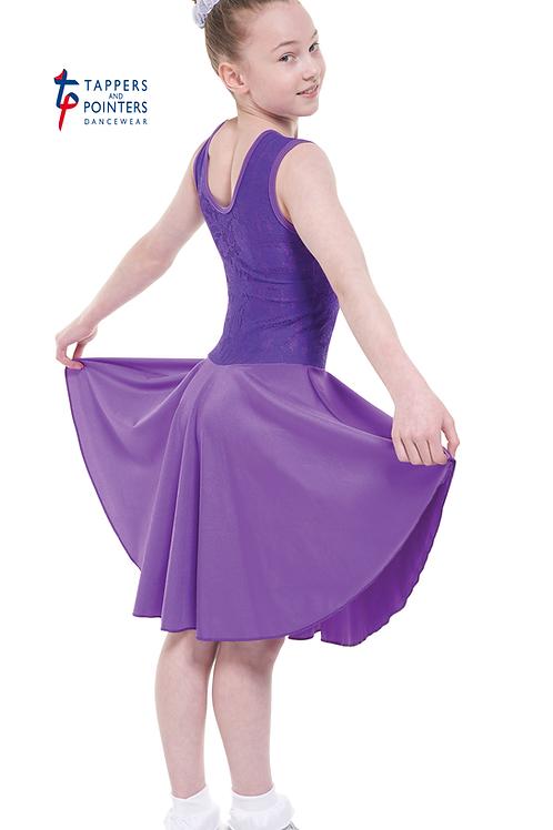 T &P girls nylon/lycra & stretch lace B6 ballroom dress